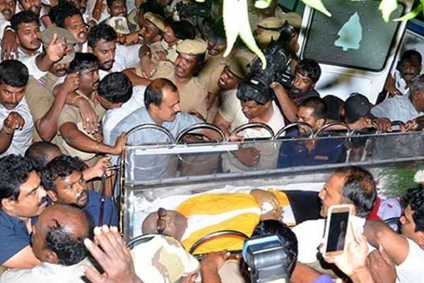 dmk karunanidhi death high alert tamilnadu