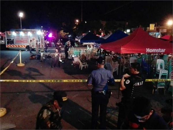 2 killed 37 injured in philippines bomb blast