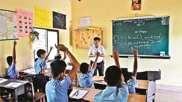 teacher in school  rakhi kati  from the students  wrist
