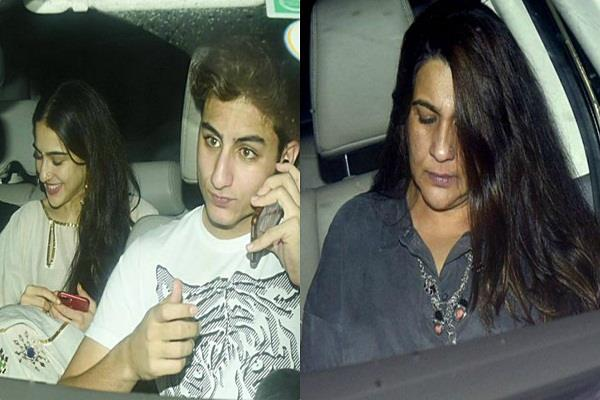 sara ali khan celebrate birthday with mother amrita singh