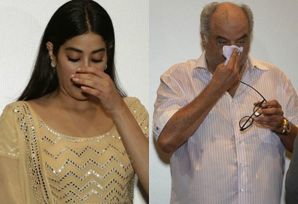 janhvi kapoor and boney kapoor emotional on sridevi birthday