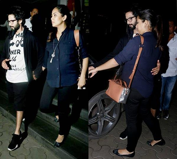shahid kapoor with wife mira at pvr