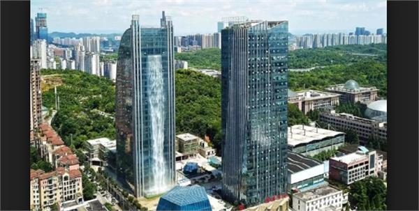 waterfall  skyscraper in china for wasting resources