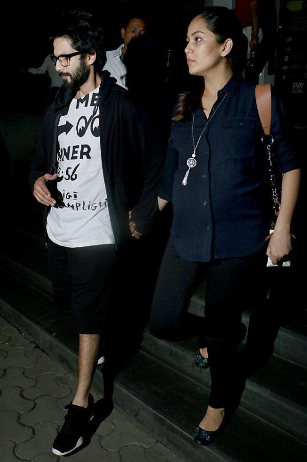 shahid kapoor takes pregnant mira rajput out on movie date