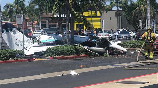 5 killed after small plane crashes near southern california mall