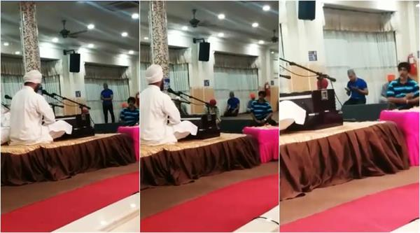 man offering namaz inside gurdwara video goes viral