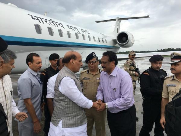 rajnath singh visits flood affected kerala today