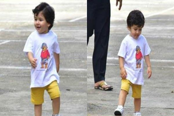 taimur ali khan spotted outside the house