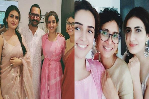aamir khan celebrates bakrid with dangal girls and family