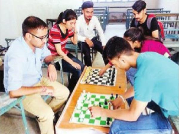chamba college students are sweating for the inter college games