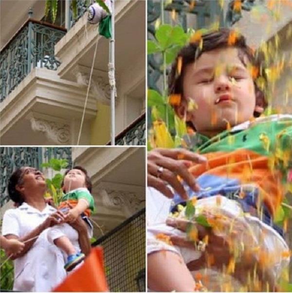तैमूर ने इस अंदाज में मनाया स्वतंत्रता दिवस, तिरंगा फहराते क्यूट तस्वीरें आई सामने