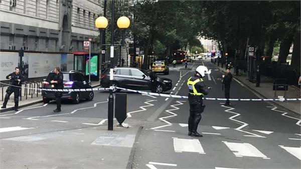 car collided with barriers near the uk parliament wounded people