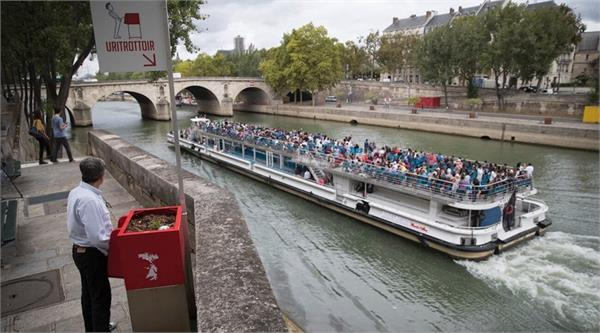 in paris eco friendly cubist urinals spark sniggers and seething