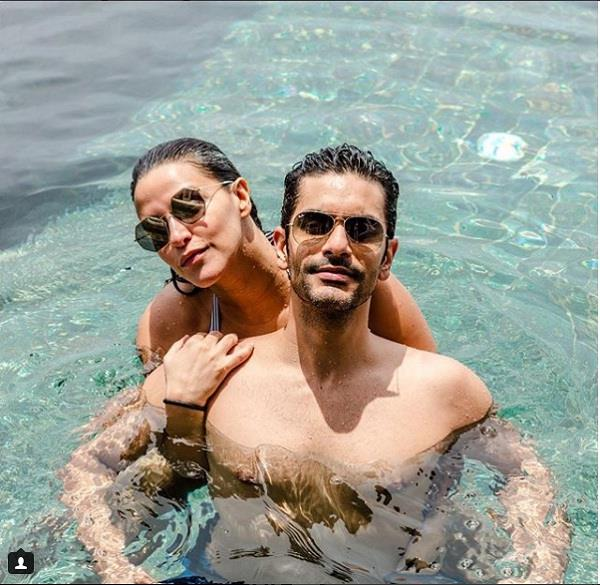neha dhupia and angad bedi enjoy vacation in maldives