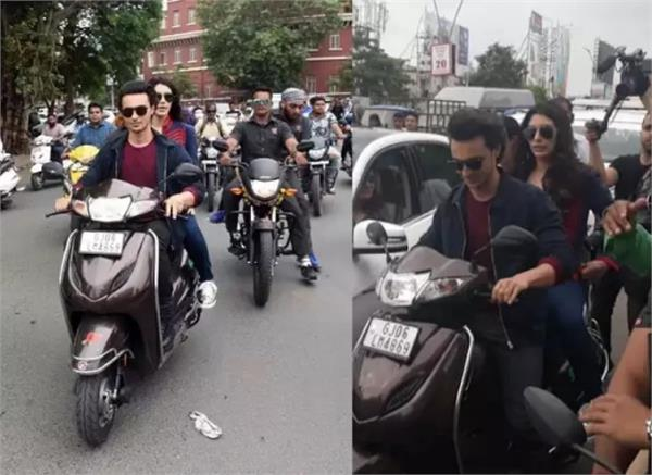 ayush sharma not wearing helmet while driving scooty