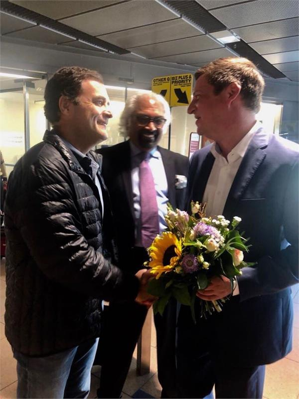 rahul gandhi leaves for 4 day visit to uk germany