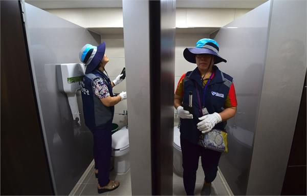 here women are in danger restrooms are engaged in the spy cam