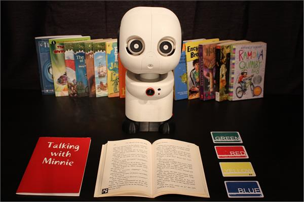 kids connect with robot reading partners