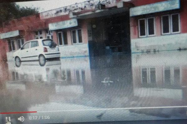 rain water lodged in kathua hospital