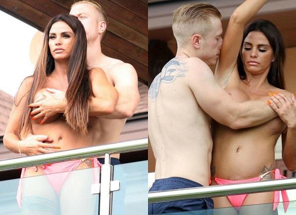 सारे कपड़े उतार क्रिस के साथ इंटीमेट होती दिखीं केटी, बॉयफ्रेंड ने हाथ से ढके प्राइवेट पार्टस