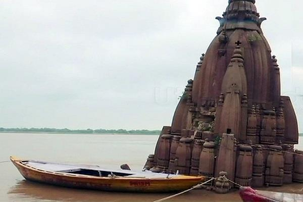 water level in river ganga rises currently at 65