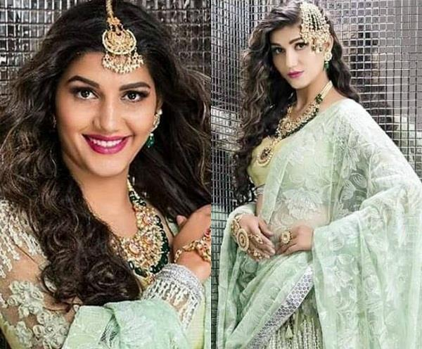 sapna choudhary in bridal look