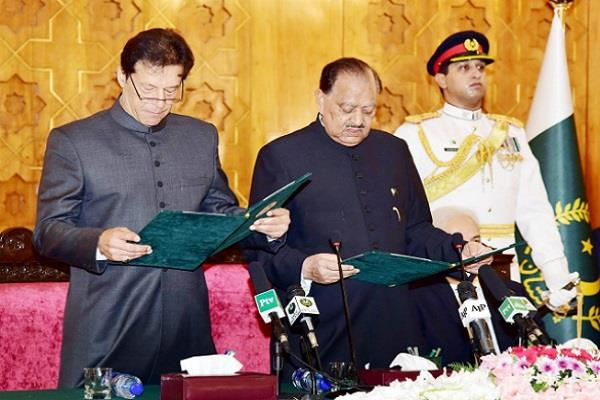 imran khan sworn in wrongfully pak government will remain in dispute