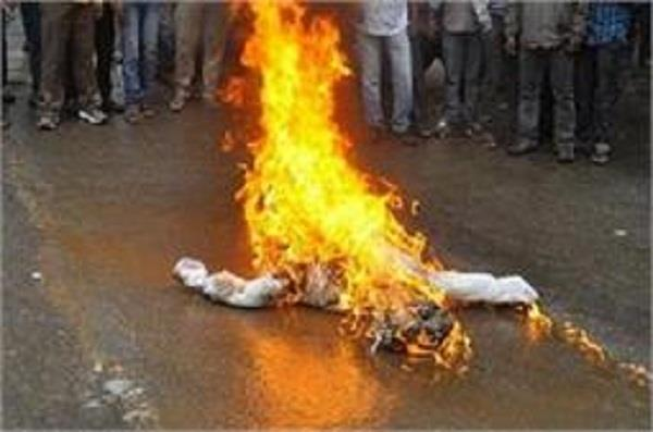captain s effigy burnt by youth at suspension of teacher leaders