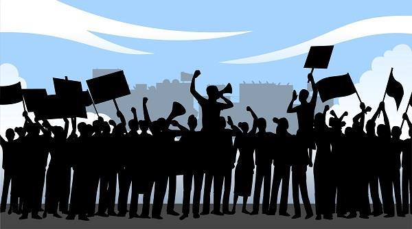 sivsena sloganeering against referendum in hunger strike