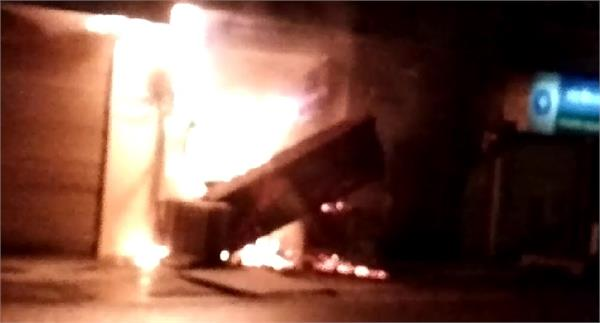 due to short circuits fire in atms millions of water scraps