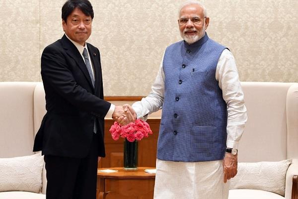 japan defense minister meets pm modi