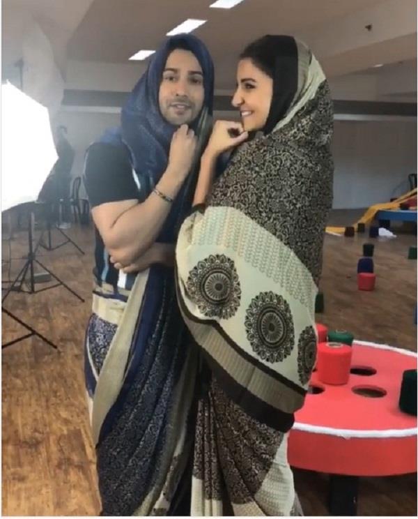 varun dhawan wore saree for sui dhaaga promotion