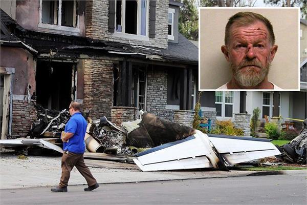 husband dies crashing plane into his own house