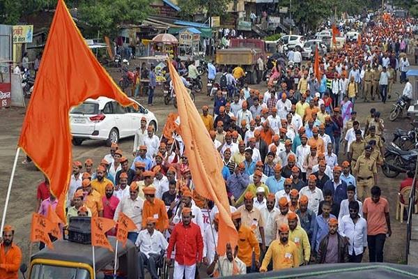 maratha reservation movement 15 people arrested for violence