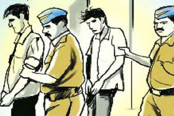 2 absconding 2 arrest for grapple with police personnel