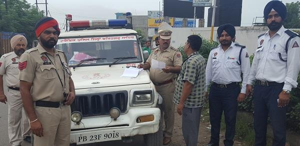 challan dozens of trucks taking action against the city