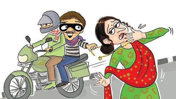 woman s artificial chain snatching