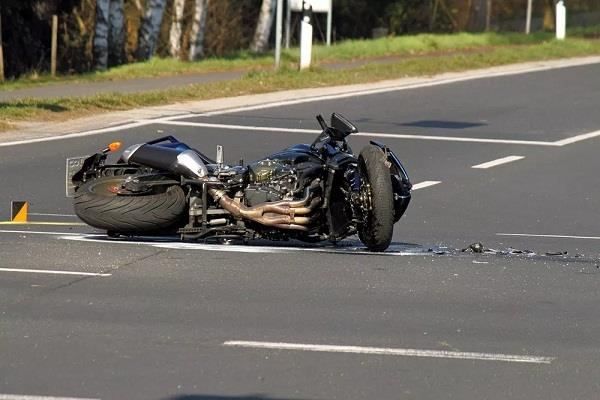 car and motorcycle collision bike rider s death