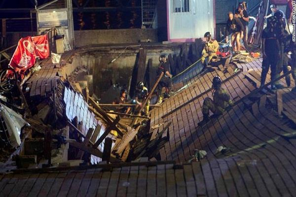 an accident took place in spain 300 injured in spain
