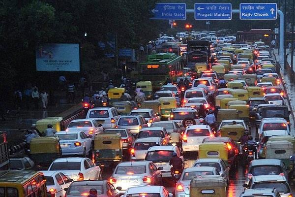 delhi rains water logging traffic jams people get disturbed