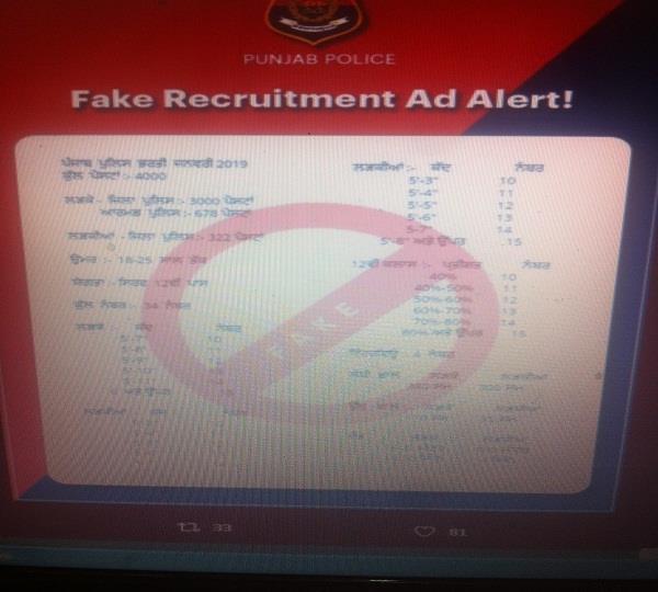 4 000 jobs in punjab police posting viral