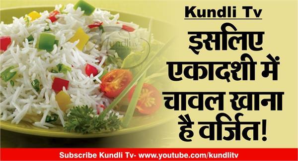 connection of rice and ekadashi