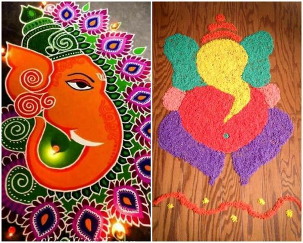 Festive Celebration: गणेश चतुर्थी के मौके पर बनाएं खूबसूरत रंगोली