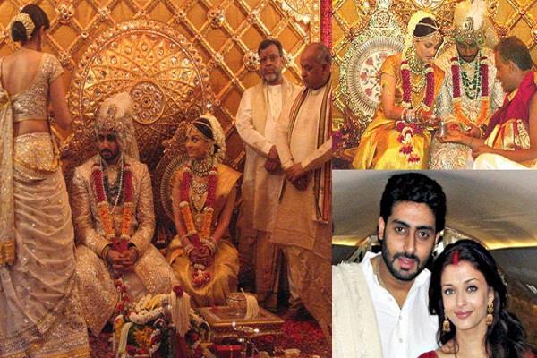 ऐश्वर्या ने अपनी शादी में पहनी थी 75 लाख की साड़ी, देखिए शादी की कुछ अनदेखी तस्वीरें