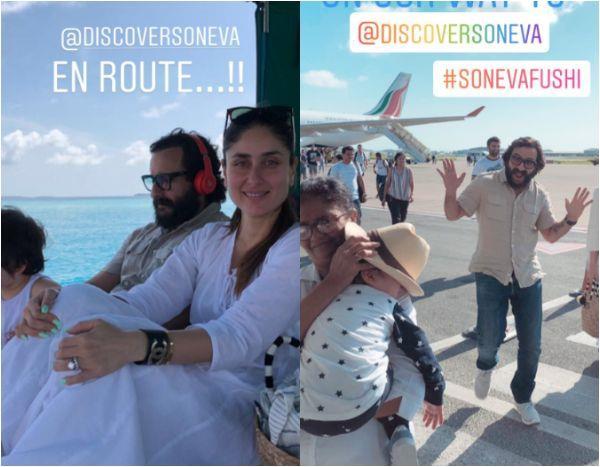 kareena kapoor khan and saif ali khan vacation pics with son taimur ali khan