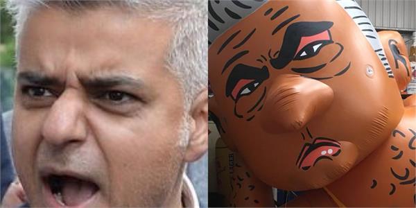 sadiq khan bikini balloon launched in london