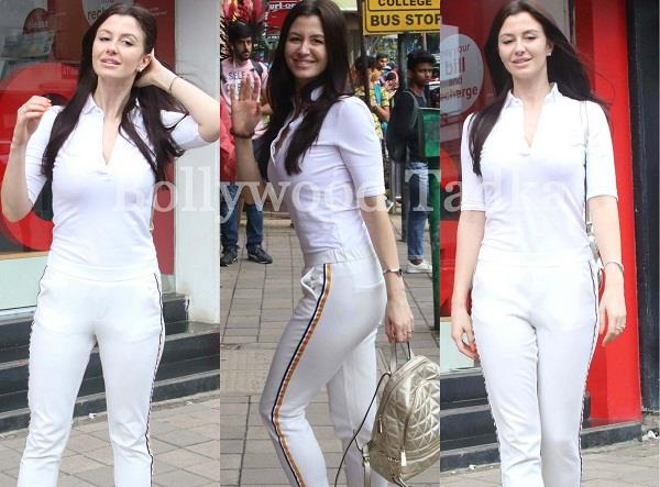 georgia andriani spotted at bandra mumbai