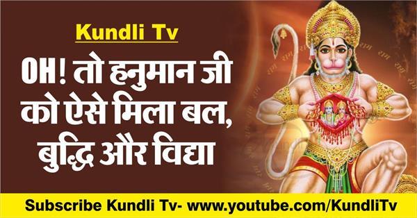 how hanuman ji got strength wisdom and education