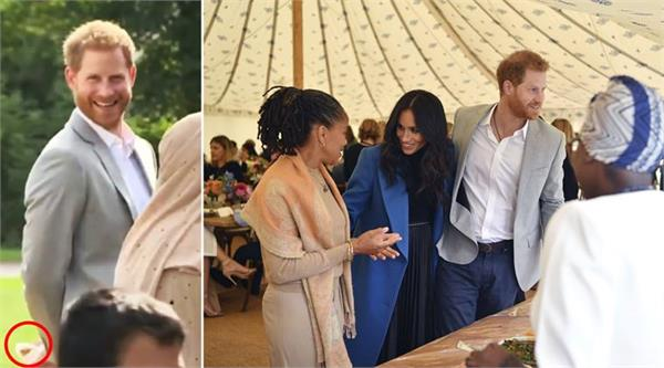 prince harry caught red handed stealing a samosa