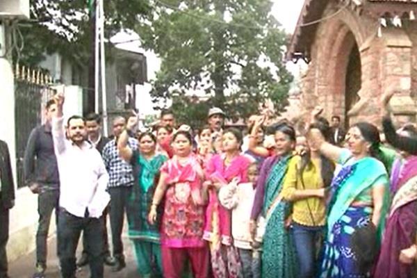 villagers encircle the dm office